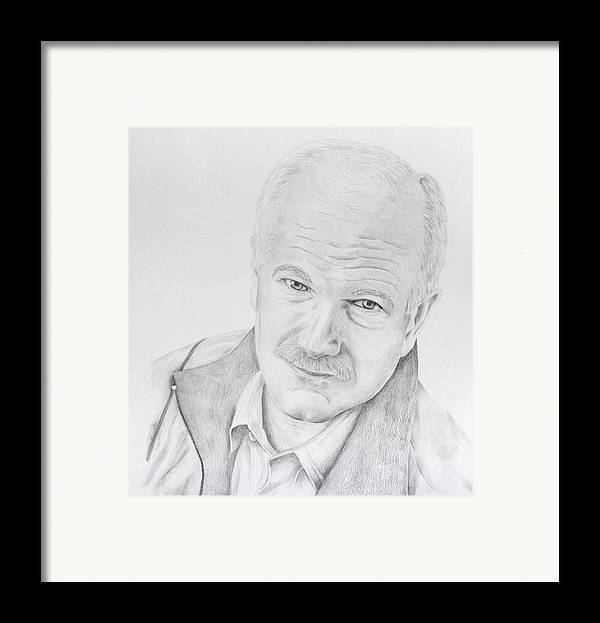 Jack Layton Framed Print featuring the drawing Jack Layton by Daniel Young
