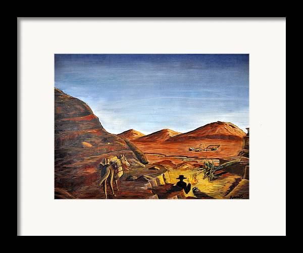 Desert Framed Print featuring the painting Jackass Flats by AnnaJo Vahle