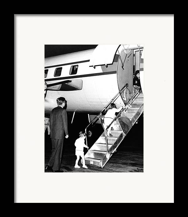 History Framed Print featuring the photograph Jacqueline Kennedy Is Welcomed Home by Everett