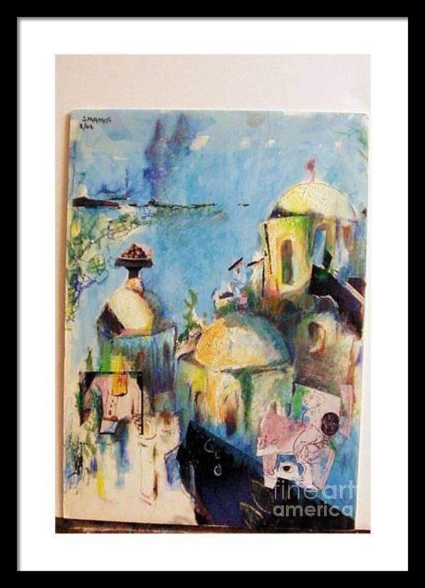 Jaffa Framed Print featuring the mixed media Jaffa by Joseph Mamos