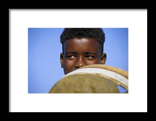 Book Framed Print featuring the photograph Jahmal by Rudy Van Acker
