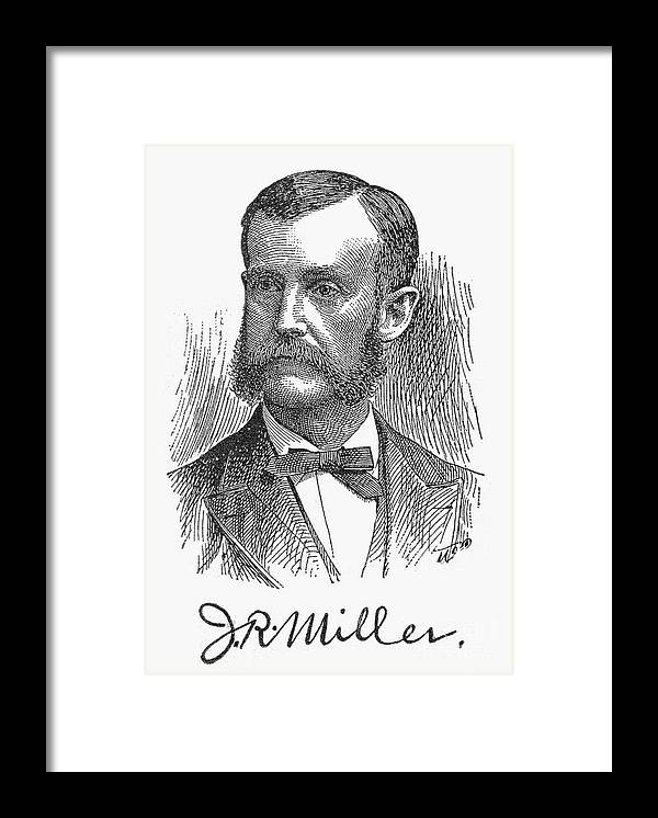 19th Century Framed Print featuring the photograph James Russell Miller by Granger