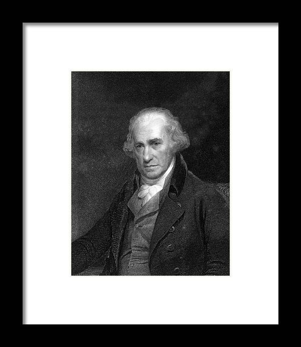 1700s Framed Print featuring the photograph James Watt, Scottish Engineer by Middle Temple Library