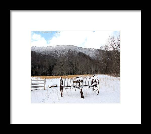 Snow Framed Print featuring the photograph January Day by Carolyn Postelwait