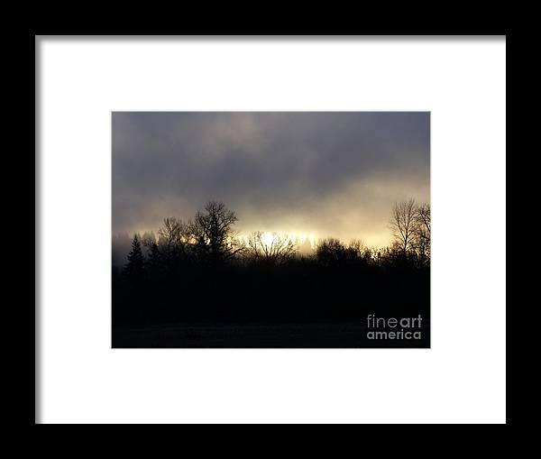 Sun Framed Print featuring the photograph January Sunrise by Erica Hanel