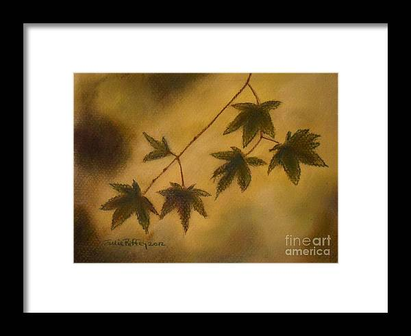 Japanese Maple Framed Print featuring the pastel Japanese Maple Leaves by Julie Brugh Riffey