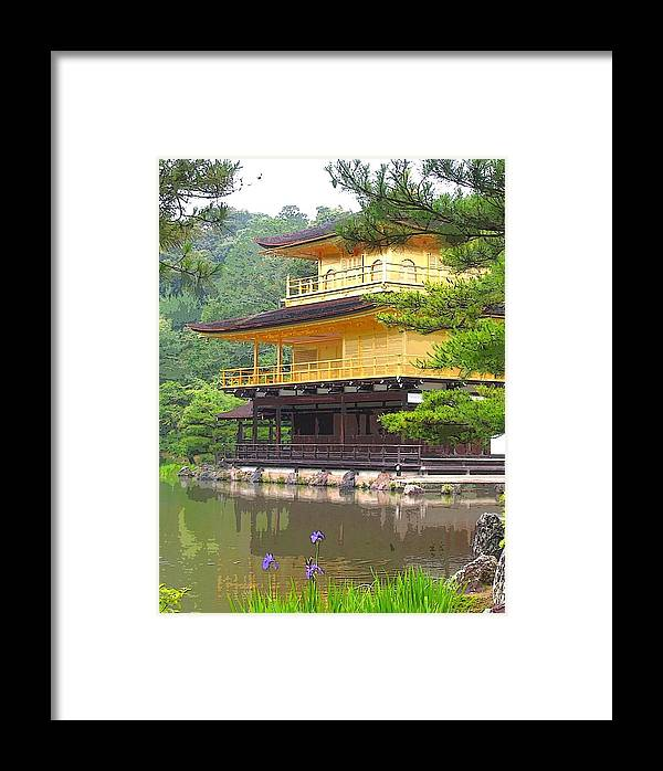 Japanese Framed Print featuring the photograph Japanese Temple by Nian Chen