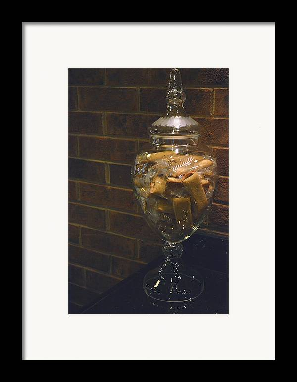 Biscotti Framed Print featuring the photograph Jar Of Biscotti by Sandi OReilly