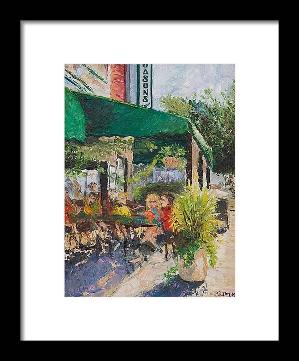 City Scene Framed Print featuring the painting Jason's Corner by Pamela Ramey Tatum