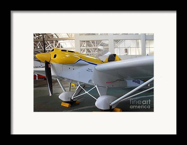 Airplane Framed Print featuring the photograph Jdt Mini Max 1600r . Eros . Single Engine Propeller Kit Airplane . 7d11169 by Wingsdomain Art and Photography