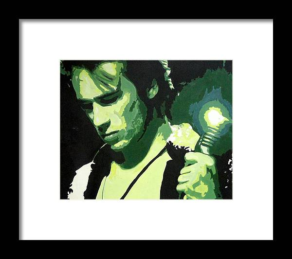 Jeff Buckley Framed Print featuring the painting Jeff Buckley by Sara Bokhari