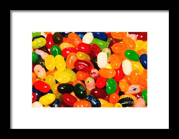 Jelly Belly Framed Print featuring the photograph Jelly Belly - Painterly by Wingsdomain Art and Photography