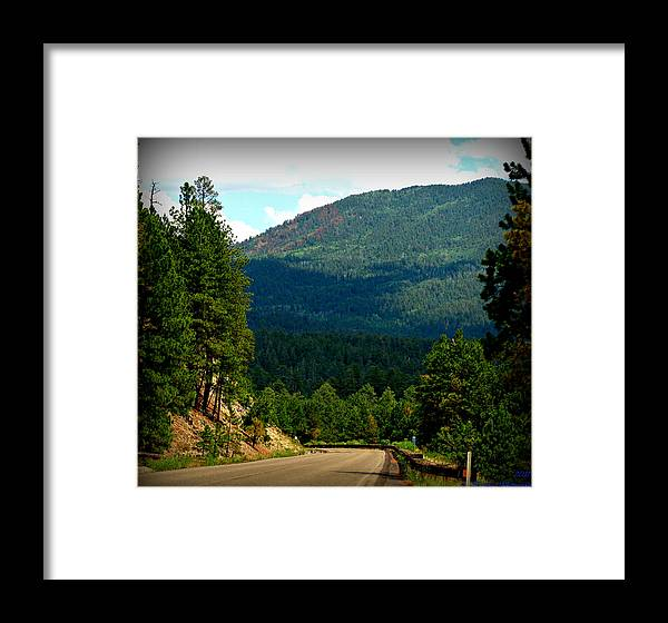 New Mexico Highway 4 Framed Print featuring the photograph Jemez Driving by Aaron Burrows