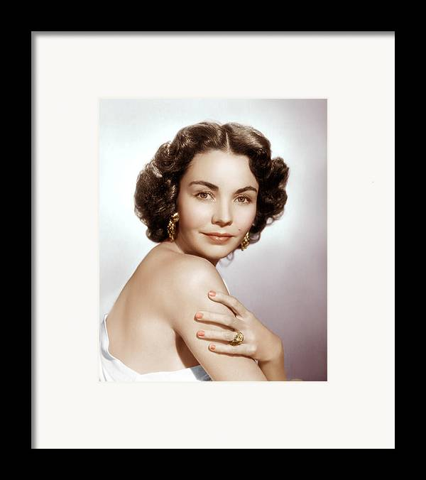 1950s Portraits Framed Print featuring the photograph Jennifer Jones, Ca. Early 1950s by Everett