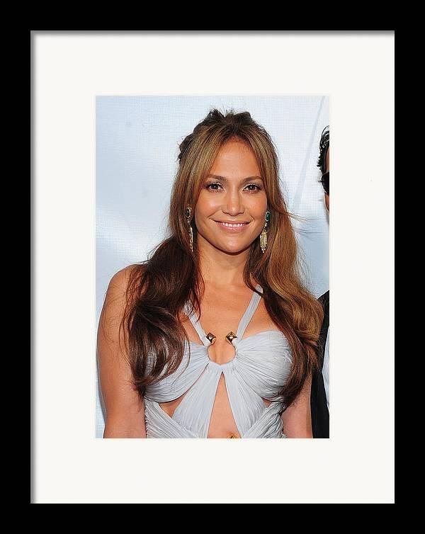 Jennifer Lopez Framed Print featuring the photograph Jennifer Lopez Wearing An Emilio Pucci by Everett