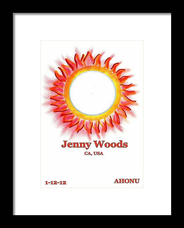 Ahonu Framed Print featuring the painting Jenny Woods by Ahonu