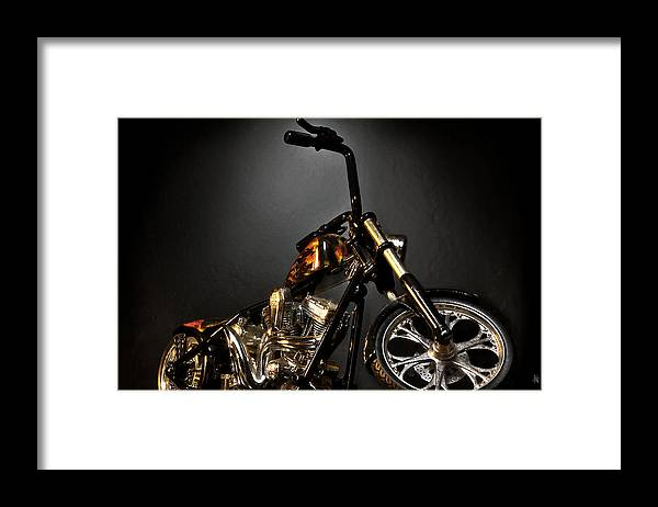Framed Print featuring the photograph Jesse James Bike 2 Detroit MI by Nicholas Grunas