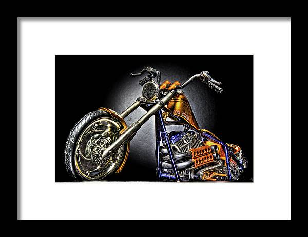 Framed Print featuring the photograph Jesse James Bike Detroit MI by Nicholas Grunas