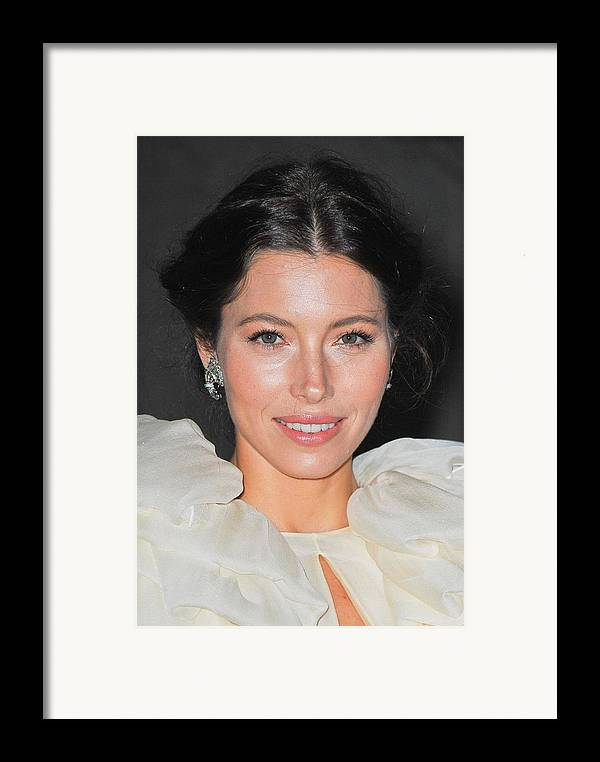 Jessica Biel Framed Print featuring the photograph Jessica Biel Wearing Fred Leighton by Everett