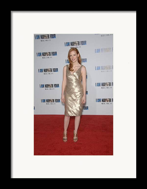 Jessica Chastain Framed Print featuring the photograph Jessica Chastain At Arrivals For I Am by Everett