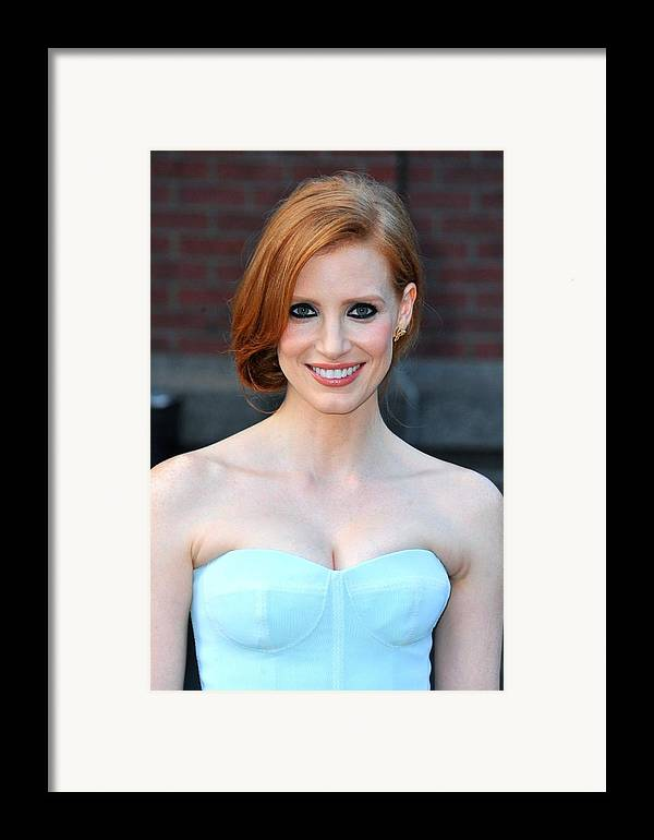 Jessica Chastain Framed Print featuring the photograph Jessica Chastain At Arrivals For The by Everett
