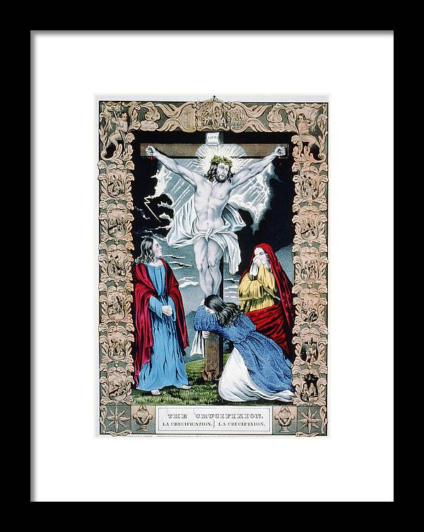 1840s Framed Print featuring the photograph Jesus Christ, The Crucifixion, Hand by Everett