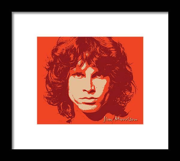Jim Morrison Framed Print Featuring The Digital Art