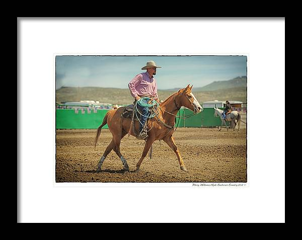 Jim Framed Print featuring the photograph Jim Young by Mary Williams Hyde