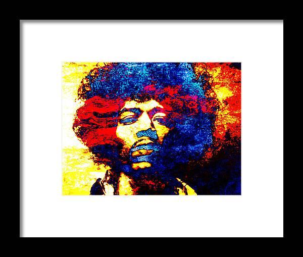 Jimi Hendrix Framed Print featuring the photograph Jimi Hendrix 3 by J - O  N  E