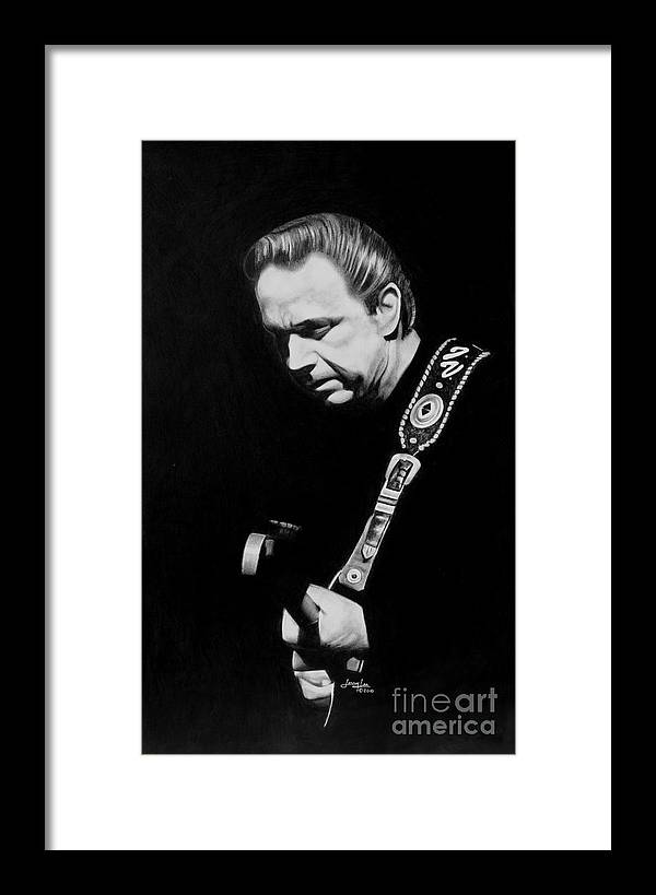 Jimmy Vaughn Framed Print featuring the drawing Jimmy Vaughn by Jerry Lee