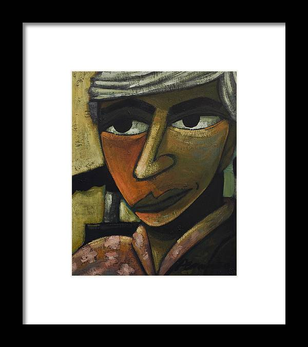 Figurative Framed Print featuring the painting Jo by Erik Pearson