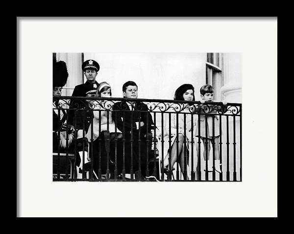 History Framed Print featuring the photograph John F. Kennedy Jr. Gets A Closer Look by Everett