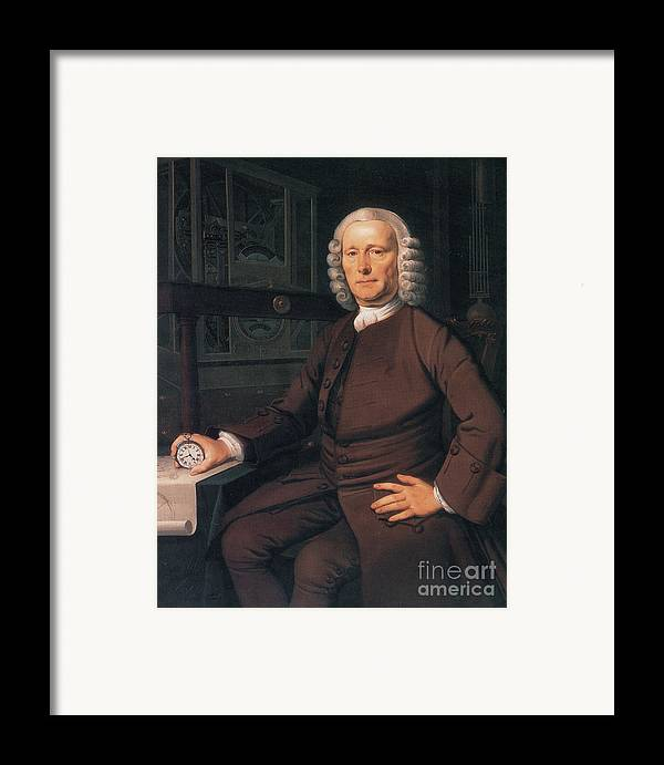 History Framed Print featuring the photograph John Harrison, English Inventor by Photo Researchers