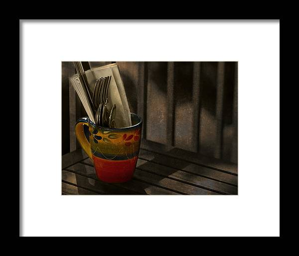 Coffee Framed Print featuring the photograph Join Me Won't You by Robin Webster
