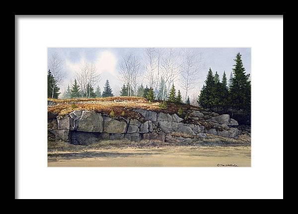 Landscape Framed Print featuring the painting Jonesboro Cut by Tom Wooldridge
