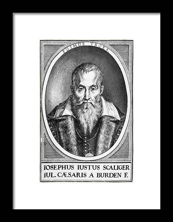 1600s Framed Print featuring the photograph Joseph Scaliger, French Religious Scholar by Middle Temple Library