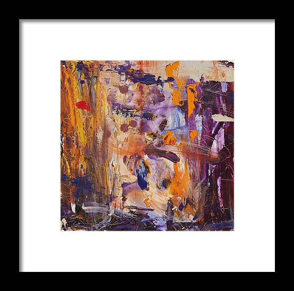 Oil Painting Framed Print featuring the painting Journal 3 by Gisele Aliyah