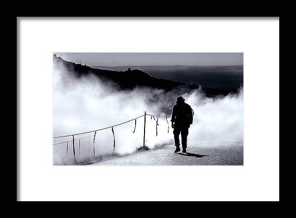 Fog Framed Print featuring the photograph Journey by Tammy McKinley