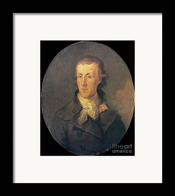 18th Century Framed Print featuring the photograph J.p. Brissot De Warville by Granger