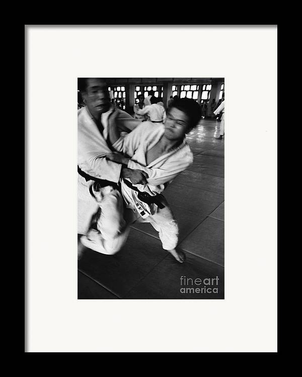 Tokyo Framed Print featuring the photograph Judo by Bernard Wolff