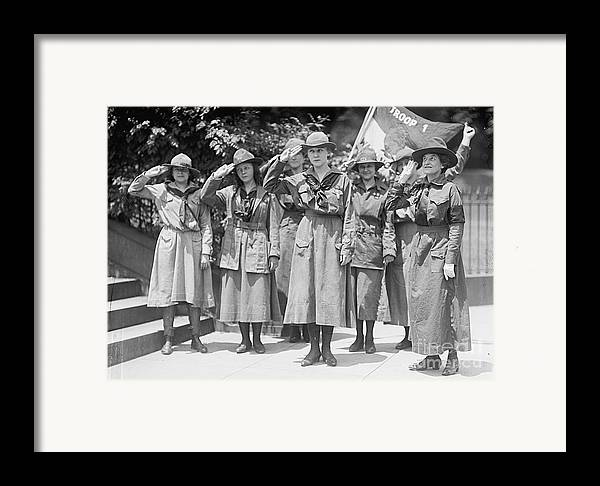 History Framed Print featuring the photograph Juliette Daisy Low, Founder Of The Girl by Photo Researchers
