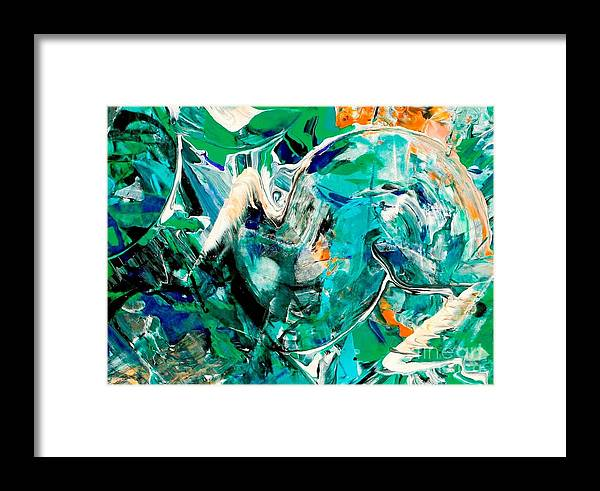 Jungle Framed Print featuring the painting Jungle Suprise by Jim Hanson