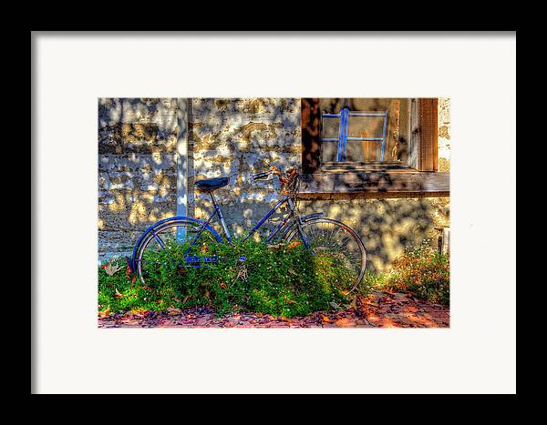 Old Bikes Framed Print featuring the photograph Junked by Eyal Nahmias