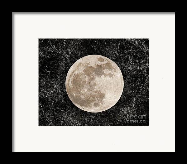 Super Moon Framed Print featuring the photograph Just A Little Ole Super Moon by Andee Design