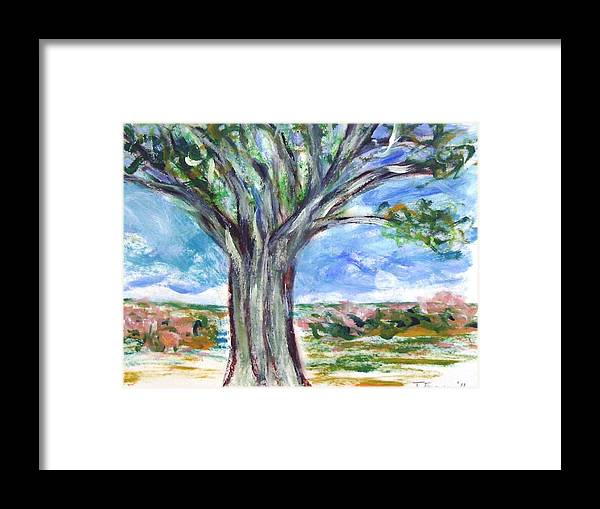Nature Framed Print featuring the painting Just a tree by Joseph Ferguson