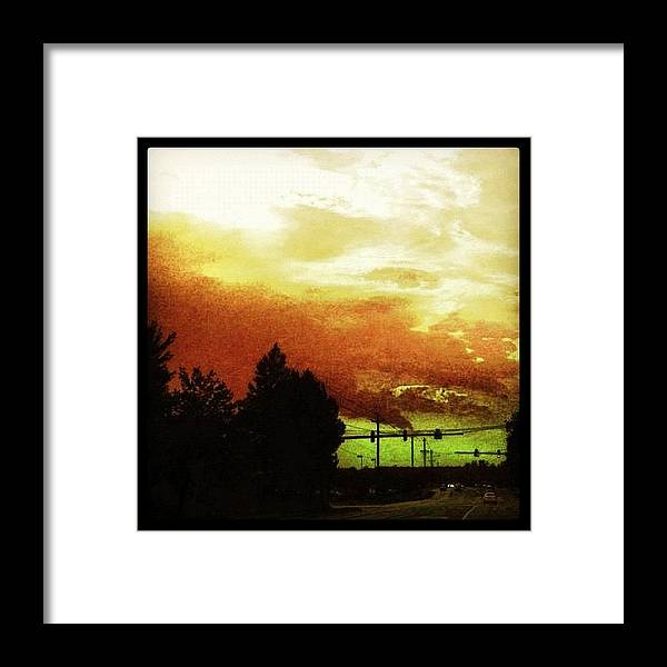 Cloudscape Framed Print featuring the photograph Just Driving by Katie Williams