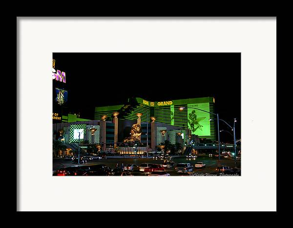 Las Vegas Framed Print featuring the photograph Just Grand by Charles Warren