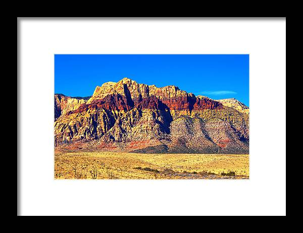 Las Vegas Framed Print featuring the photograph Just Outside of Las Vegas by Richard Henne