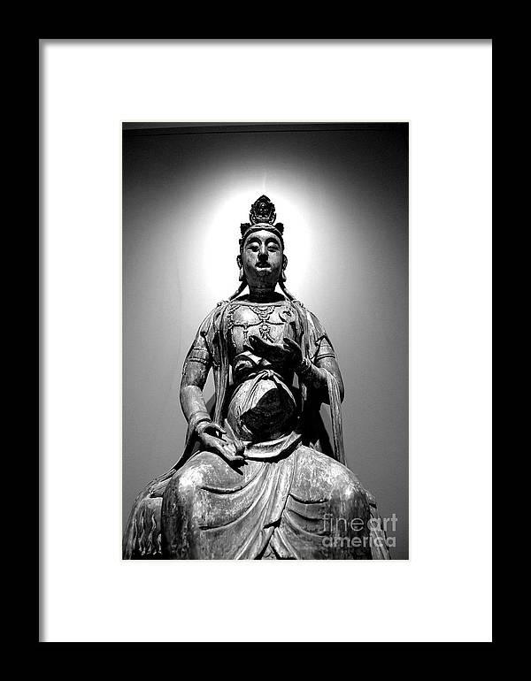 Buddha Framed Print featuring the photograph K-buddha by Melanie D Cervantes