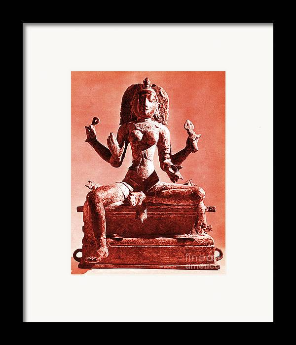 Kali Framed Print featuring the photograph Kali by Photo Researchers